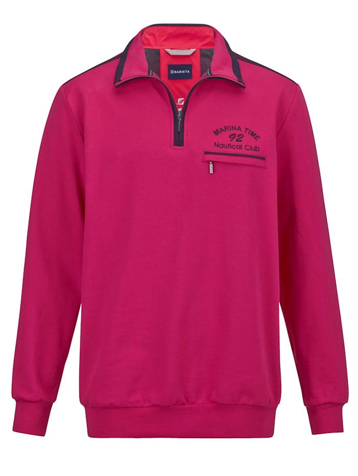 BABISTA Sweatshirt in zomerse kleuren, Fuchsia