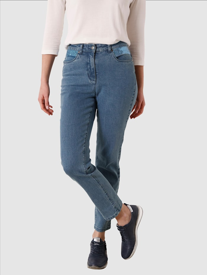 Paola Jeans med smala ben, Light blue
