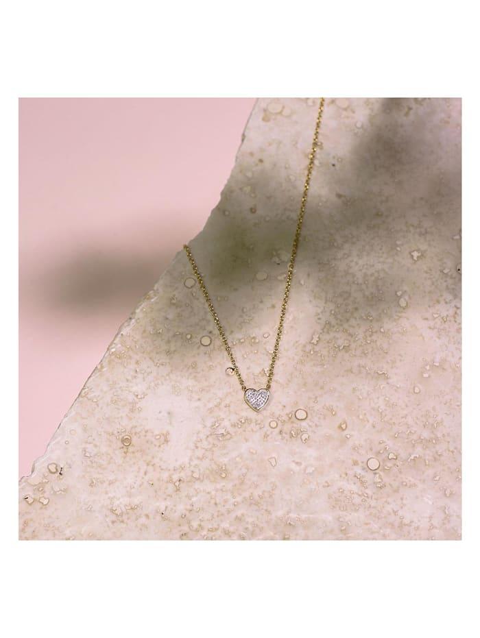 CHRIST Diamonds Damen-Kette 375er Gelbgold 3 Diamant