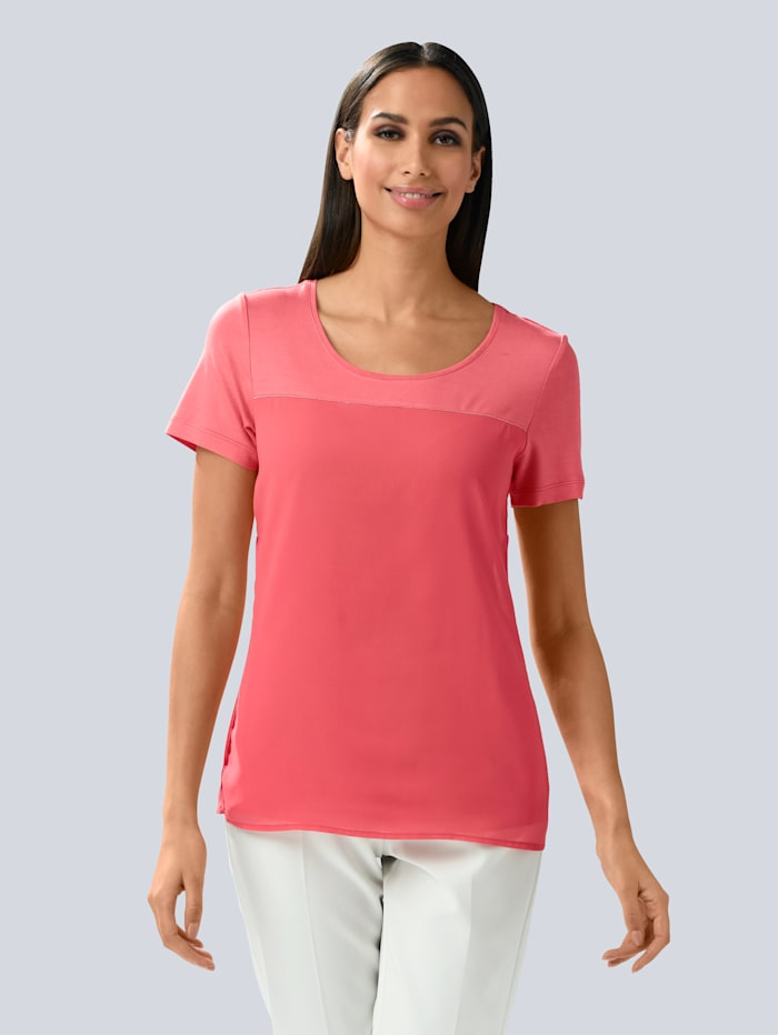 Alba Moda Shirt met sierbandjes, Koraal