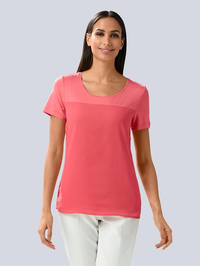 Alba Moda Shirt mit Schmuckbändchen, Koralle