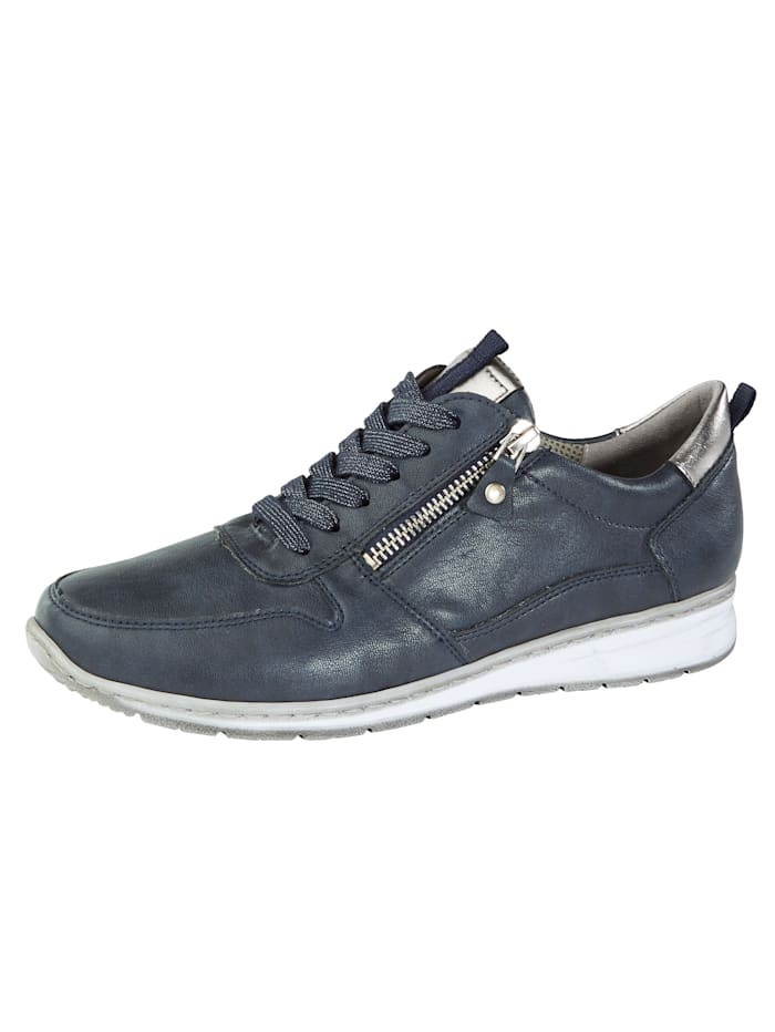 Jenny Lace-up shoes with slightly shimmering laces, Navy