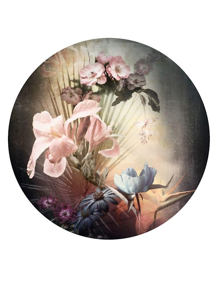 Komar Runde Fototapete, Blumen, bunt