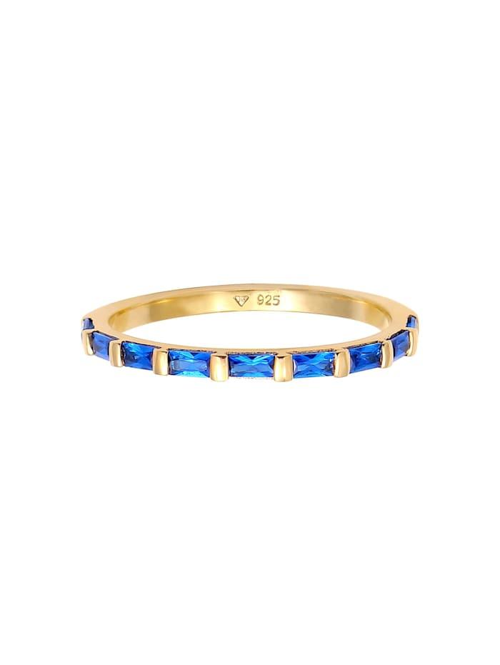 Ring Bandring Verlobung Synthetischer Saphir 925 Silber