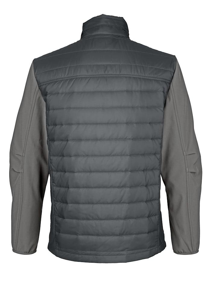 Gewatteerde jas van verschillende materialen