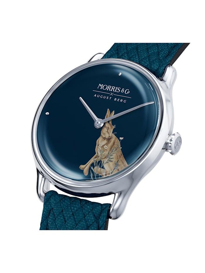 Uhr MORRIS & CO Silver Indigo Perlon 30mm