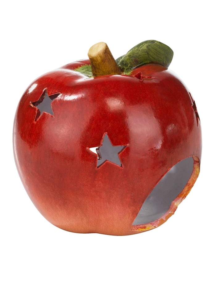 My Flair Windlicht Apfelform, Rot