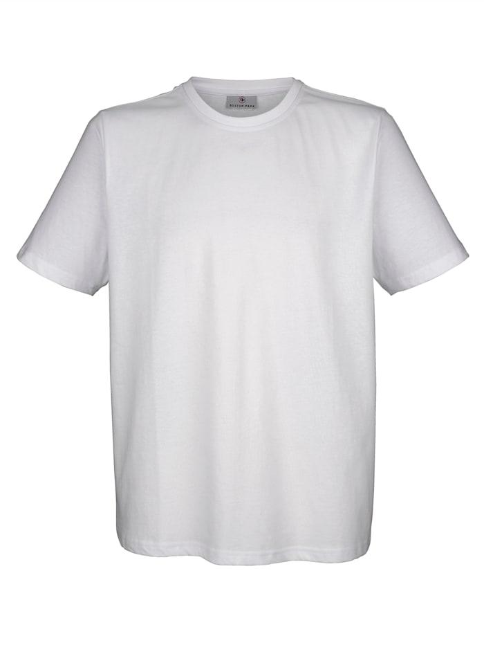 Boston Park T-Shirt aus reiner Baumwolle, Weiß