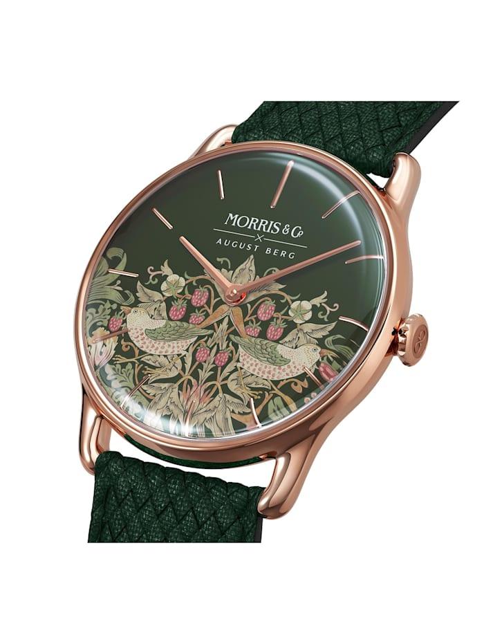 Uhr MORRIS & CO Rose Gold Green Perlon 38mm