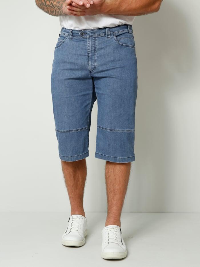 Men Plus Jeansbermuda in Straight Fit model, Blue stone