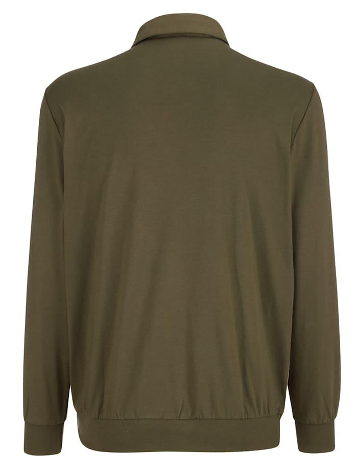 Poloshirt met contrasterende details