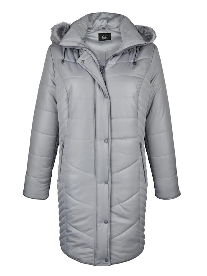 Manteau court à joli motif surpiqué