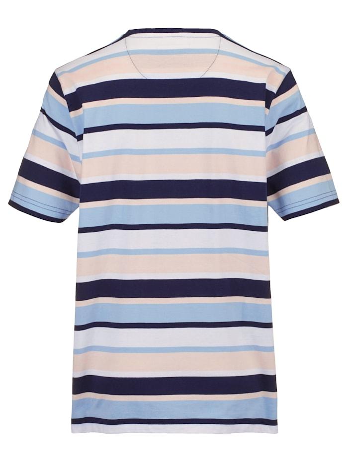 T-shirt met ingebreide strepen