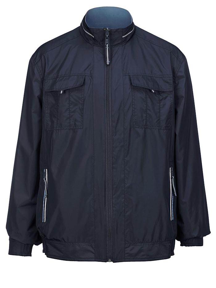 Keerbare jas met opstaande kraag