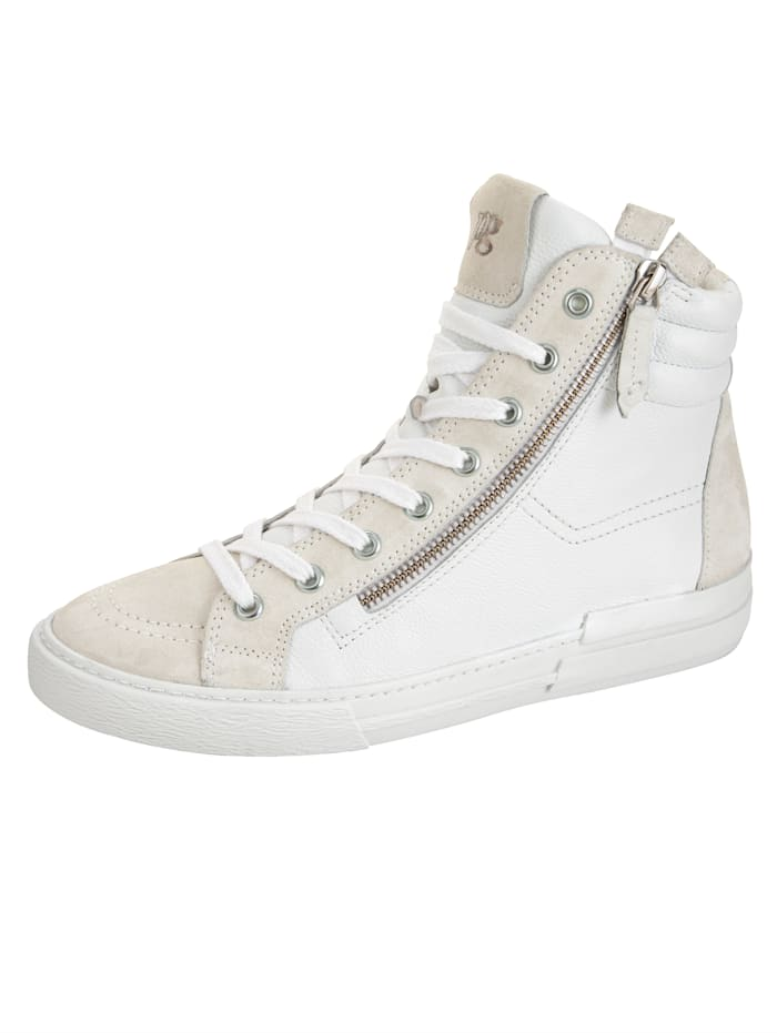 Paul Green Sneaker in supersoft-uitvoering, Wit/Crème