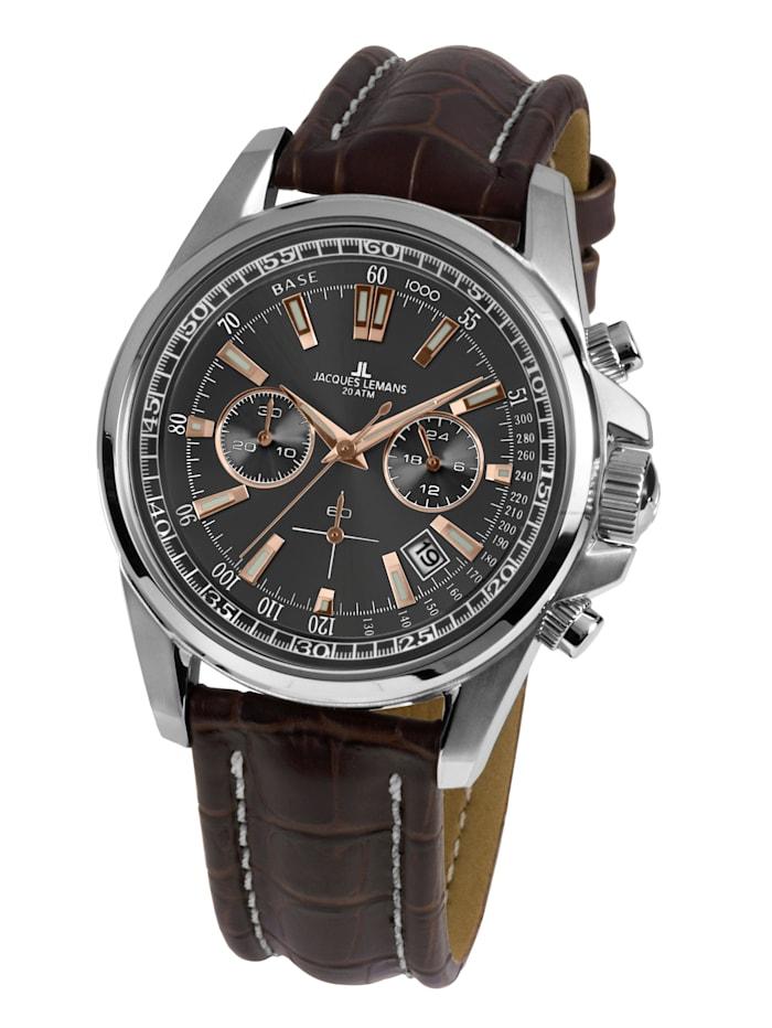 Jacques Lemans Herren-Chronograph Uhr, Braun