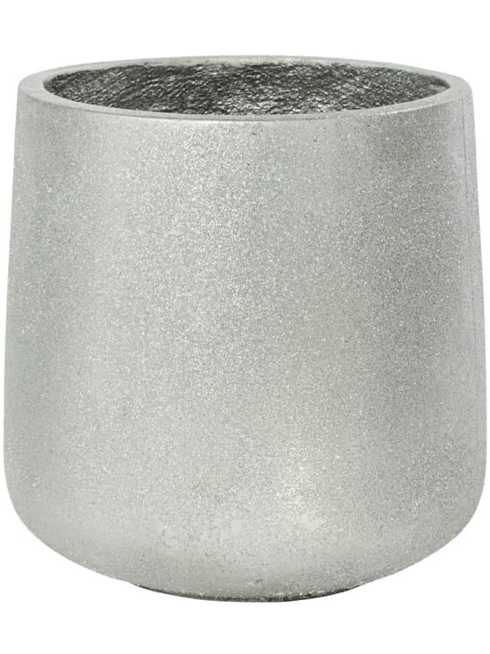 Living Deko-Übertopf, Silberfarben