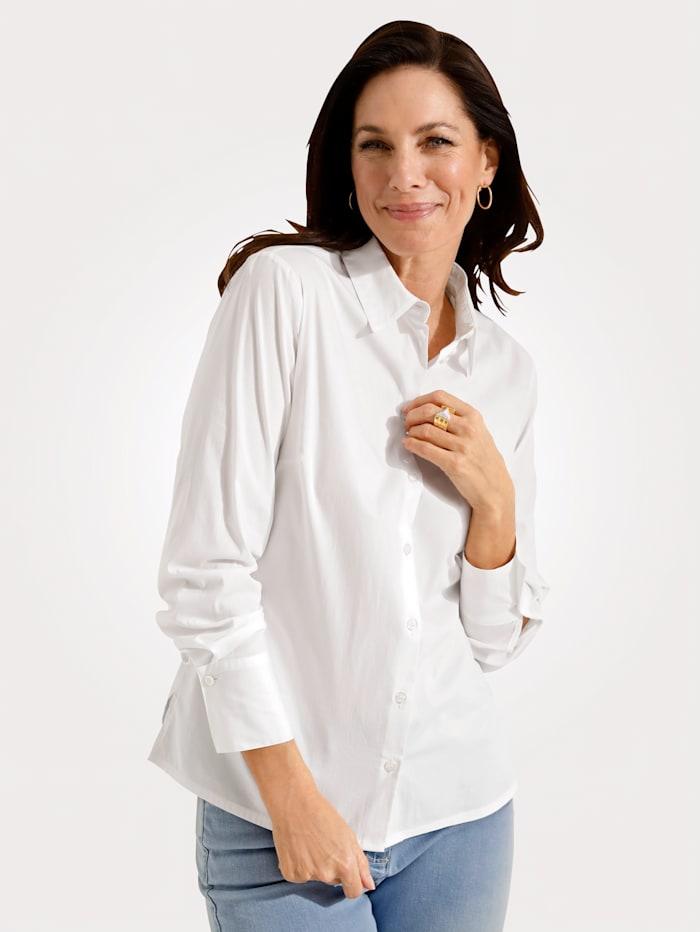 MONA Bluse mit Baumwolle, Weiß