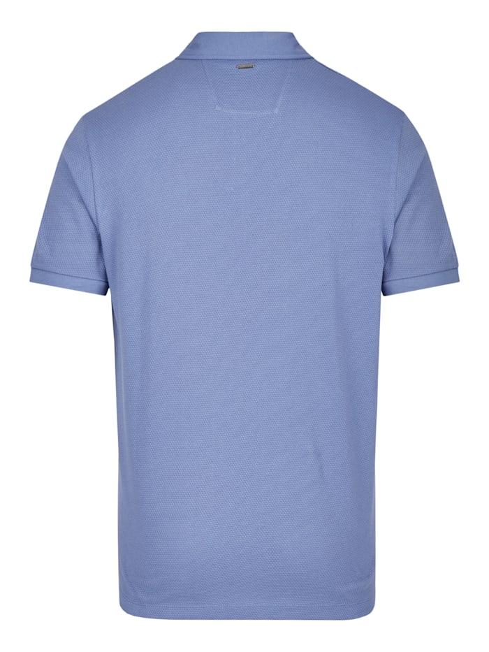 Polo-Shirt mit stylischer Wabenstruktur
