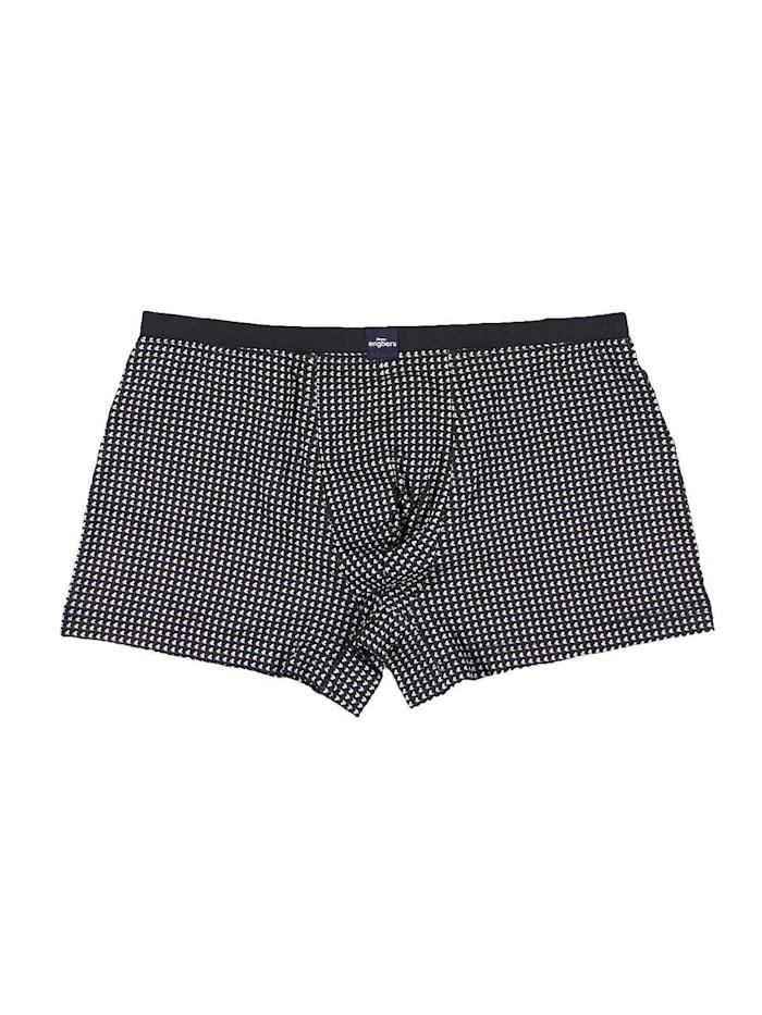 Engbers Komfortable Boxershorts mit modischem Muster, Anthrazit