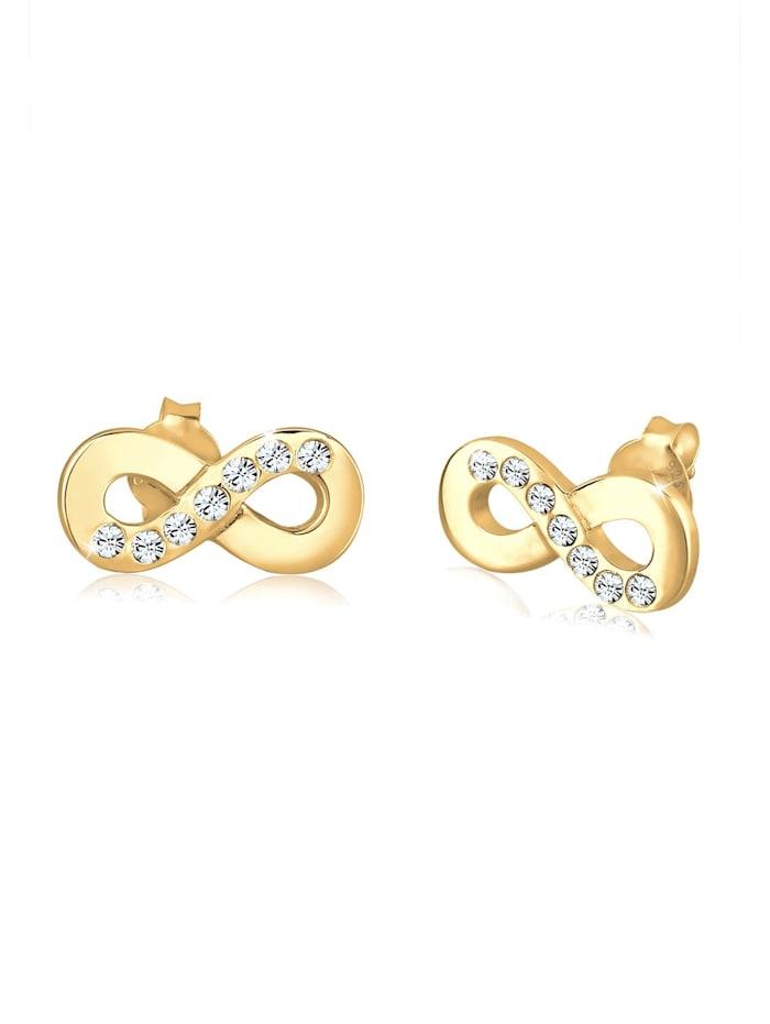 Elli Ohrringe Infinity Symbol Liebe Kristalle Silber, Gold