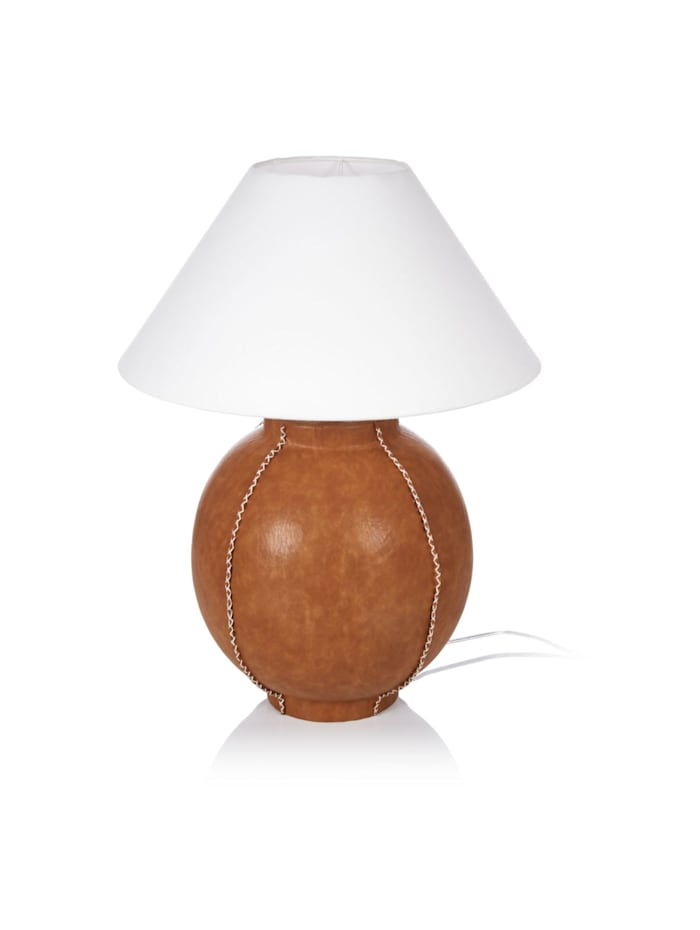 IMPRESSIONEN living Lampe de table, marron/blanc