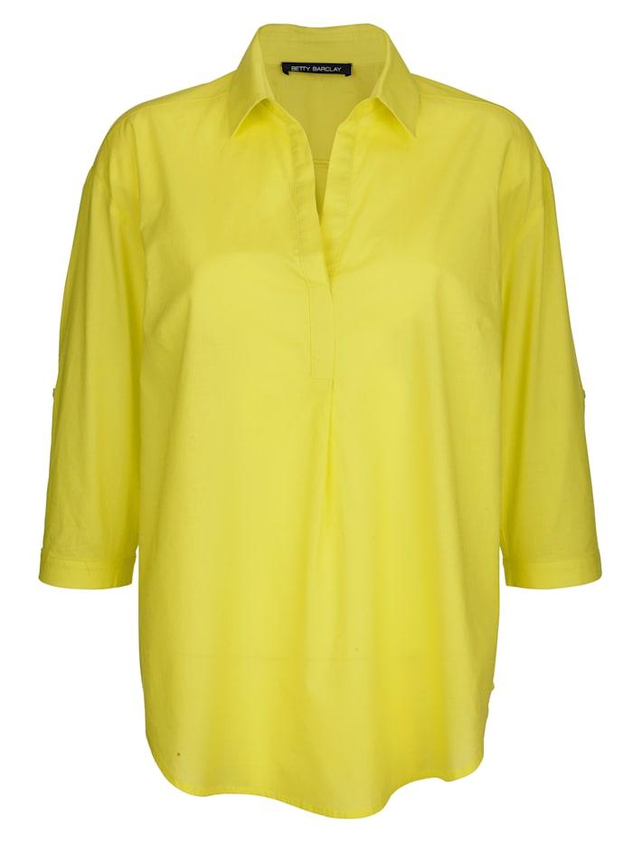 Bluse in trendiger Neonfarbe