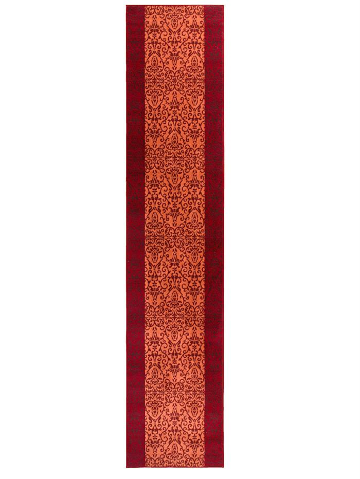 Webschatz Läufer und Stufenmatten gewebt Franklin, Rot
