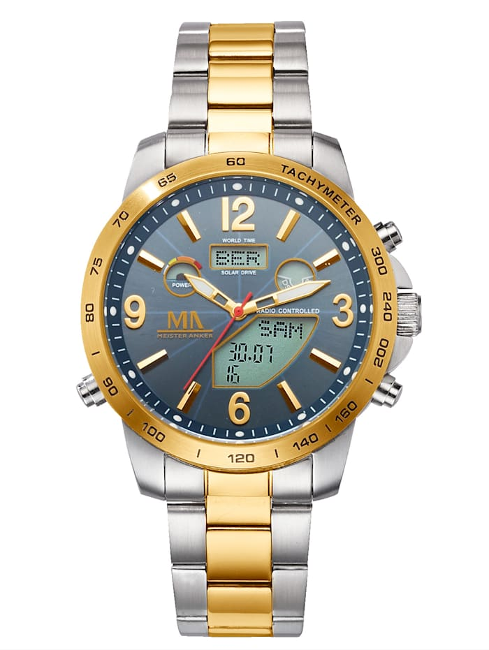 Meister Anker Pánske hodinky, Farba žltého zlata/Strieborná