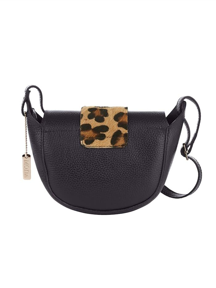 Axelremsväska med leopardmönster