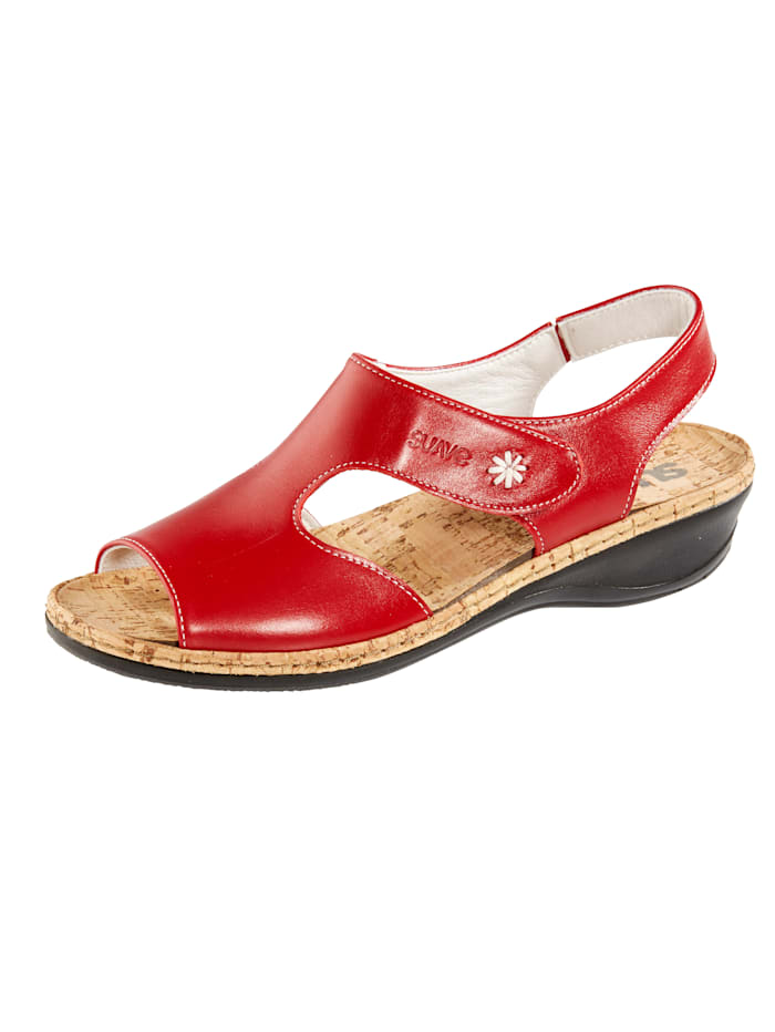 Suave Sandaler med bekväm korkfotbädd, Röd