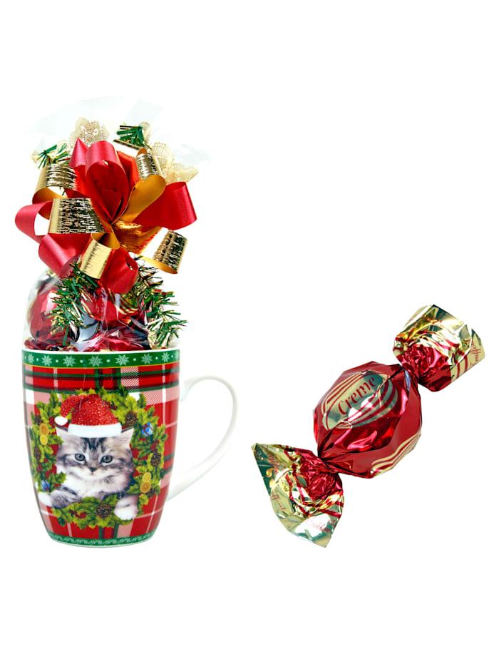 Pfeiffer & Sperl Gefüllte Weihnachts-Tassen im 2er Set, Multicolor