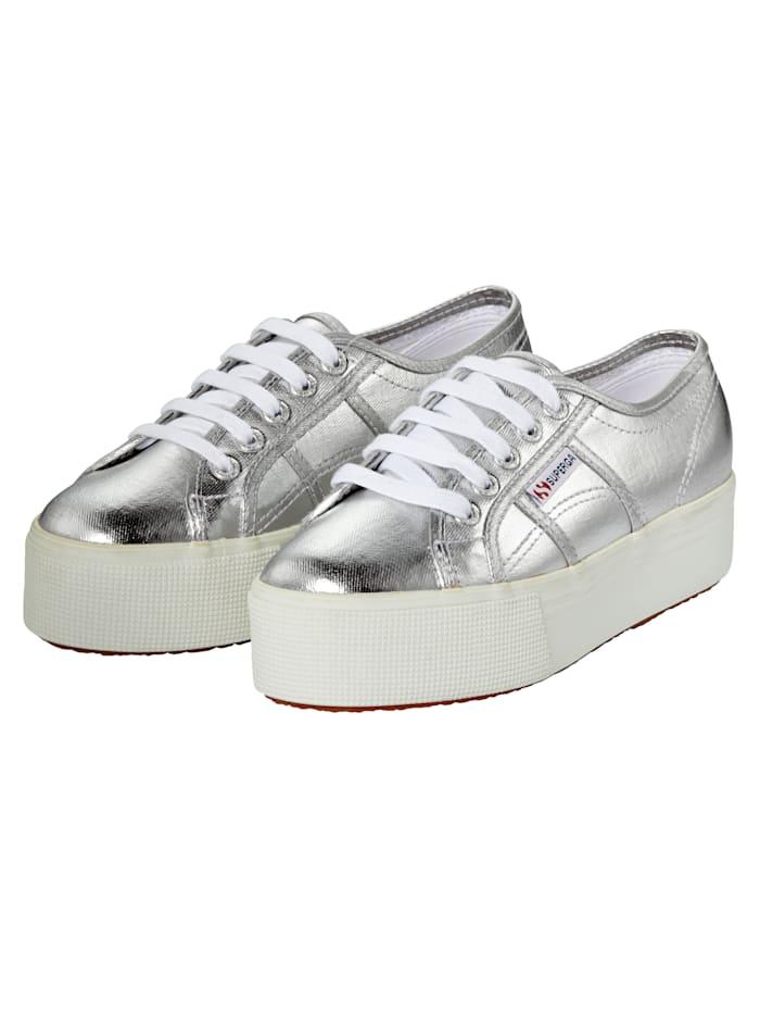 Superga Sneaker, Silberfarben