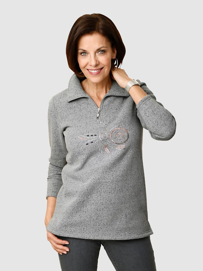Paola Sweat-shirt avec application, Gris