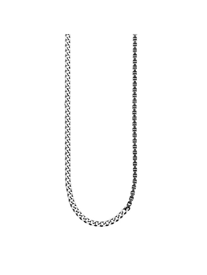 CAI Collier 925/- Sterling Silber ohne Stein 65cm Geschwärzt, weiß