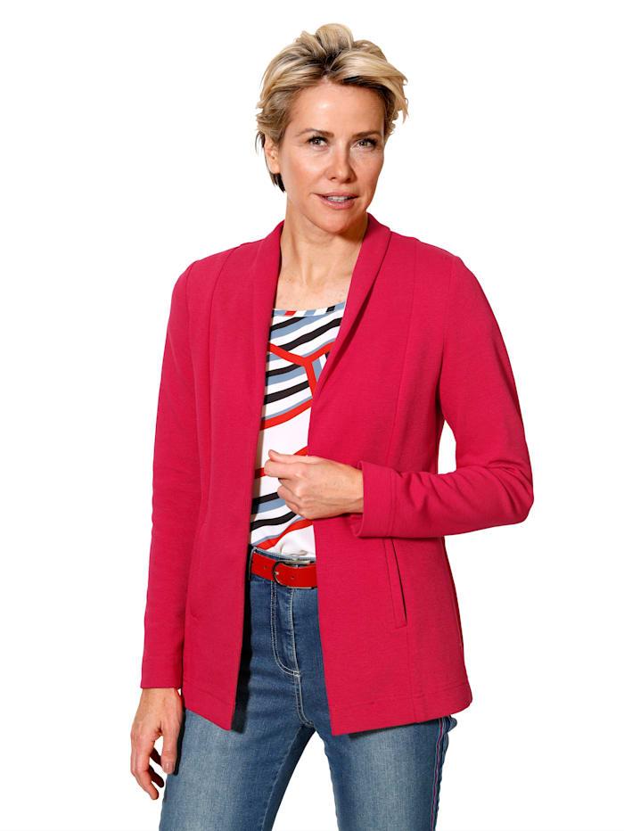 Jersey blazer van subtiel gestructureerde jersey