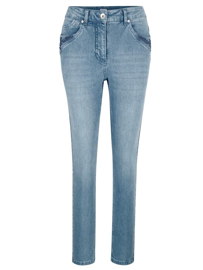 Jeans met koordversiering