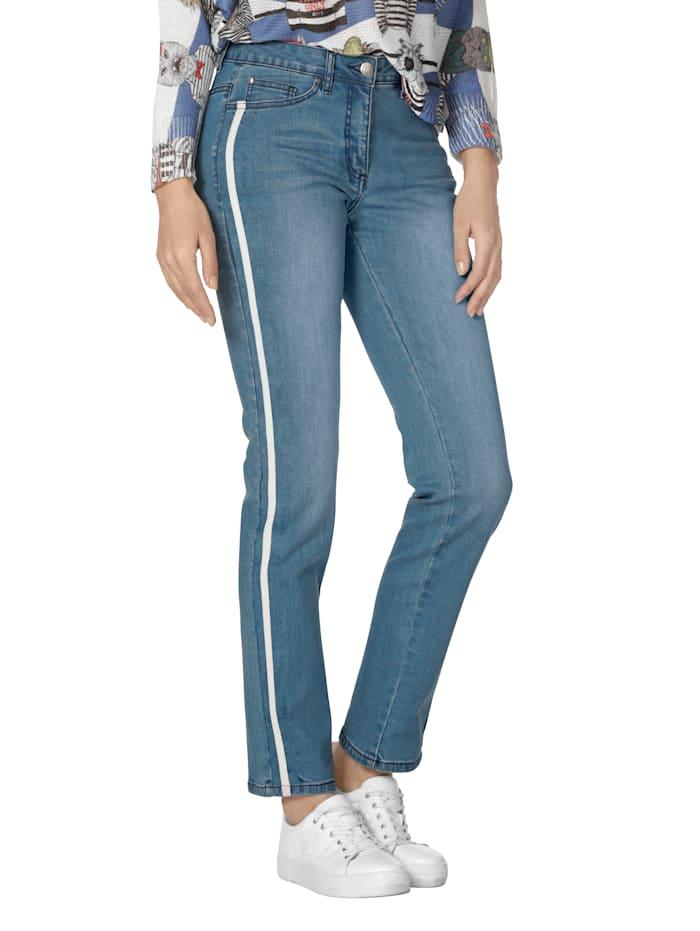 AMY VERMONT Jeans mit Galonstreifen, Hellblau