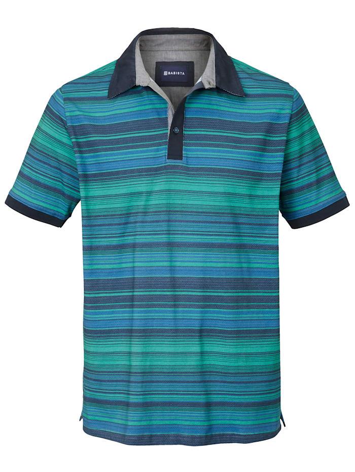 BABISTA Polo à col chemise, Vert/Bleu