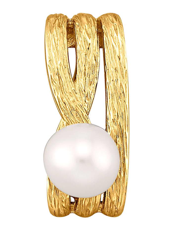 Diemer Perle Anhänger mit weißer Süßwasser-Zuchtperle, Weiß