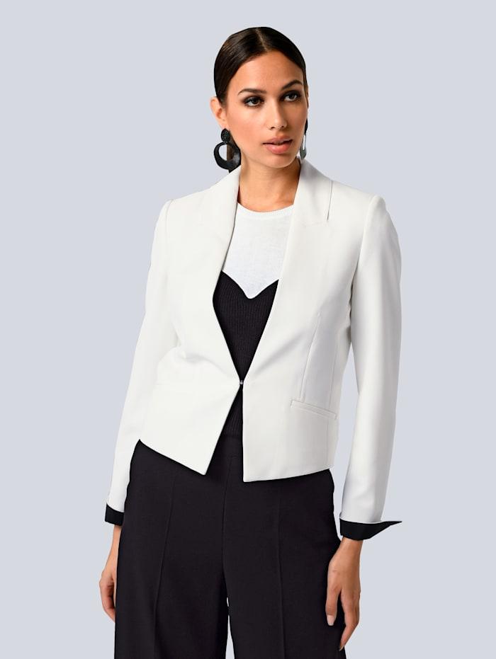 Alba Moda Blazer im modischen Kontrast-Look, Weiß