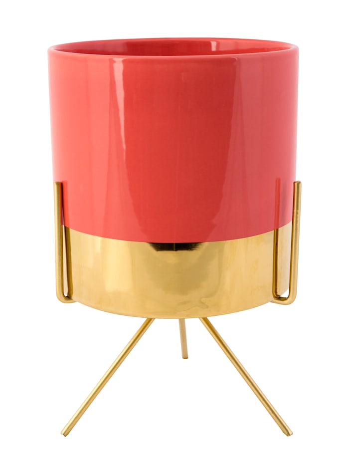 IMPRESSIONEN living Übertopf, groß - rosé/goldfarben