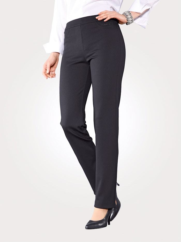 Relaxed by Toni Jerseyhose in Schlupfform, Schwarz