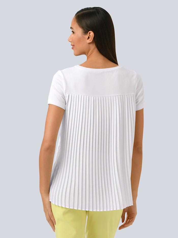 Alba Moda Shirt mitz pliessiertem Einsatz, Off-white