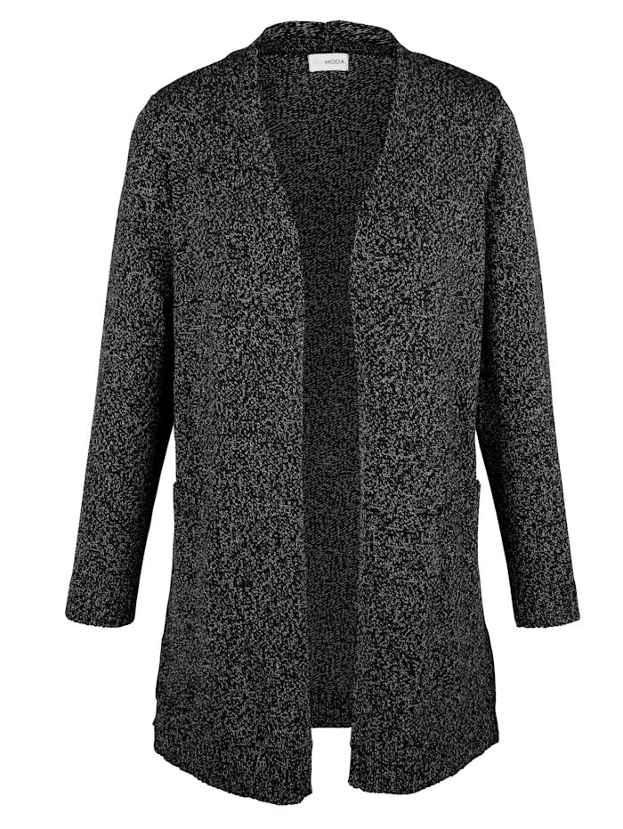 MIAMODA Lang vest in trendy model, Zwart