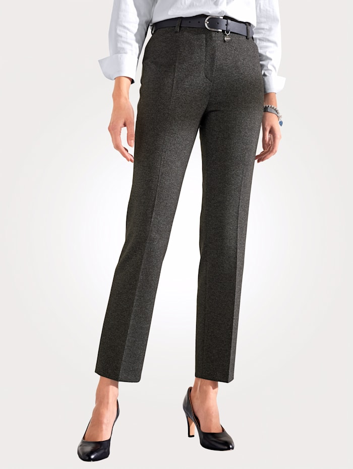 Relaxed by Toni Trousers in a mélange finish, Anthracite