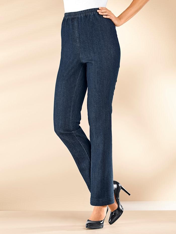 MIAMODA Jeans met comfortabele, elastische band, Dark blue