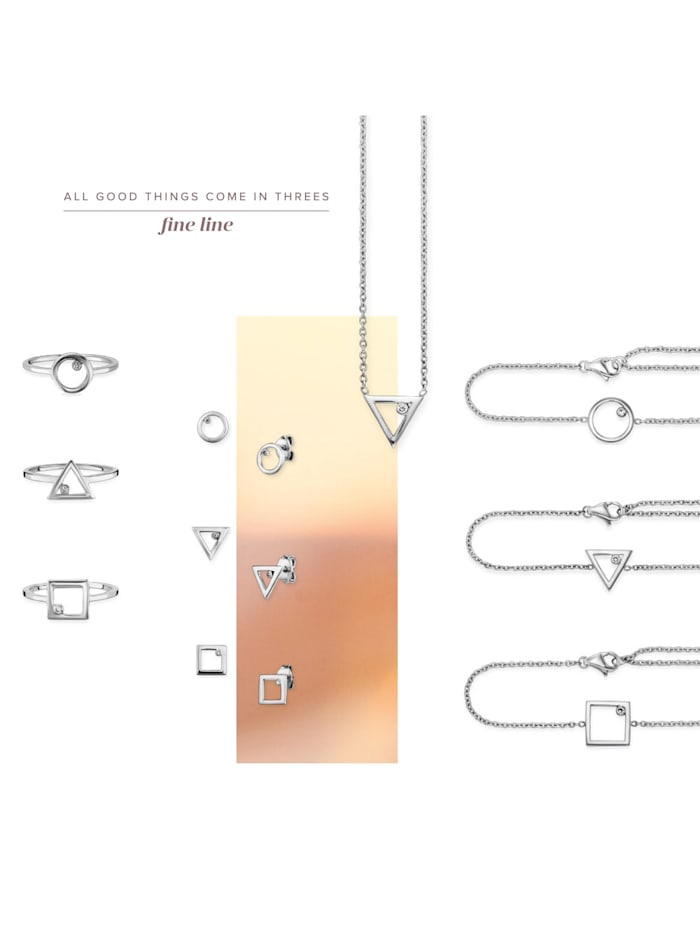 Armband 925/- Sterling Silber Zirkonia 16+3cm rhodiniert