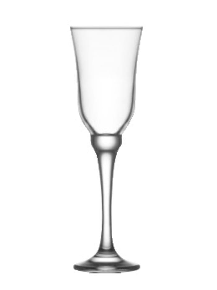 Van Well 6 champagneglas – Resital, Ofärgad
