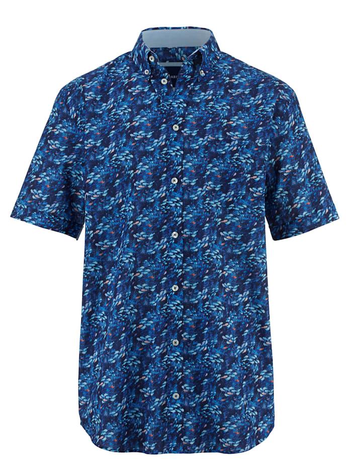 BABISTA Overhemd met dessin rondom, Blauw